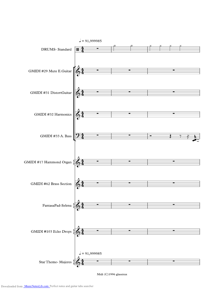 Bidi Bidi Bom Bom Music Sheet And Notes By Selena Musicnoteslib Com