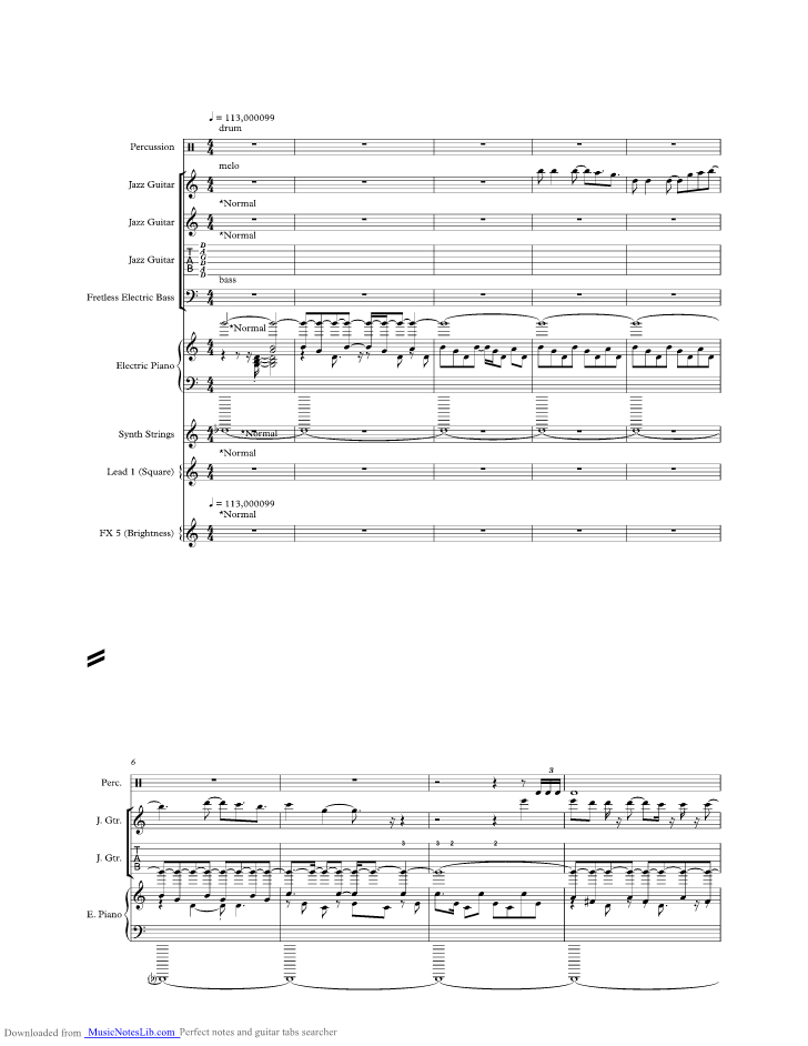 Mexican Girl Music Sheet And Notes By Smokie Musicnoteslib