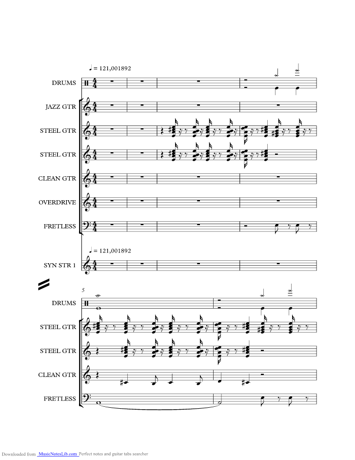 Needles And Pins Music Sheet And Notes By Smokie Musicnoteslib