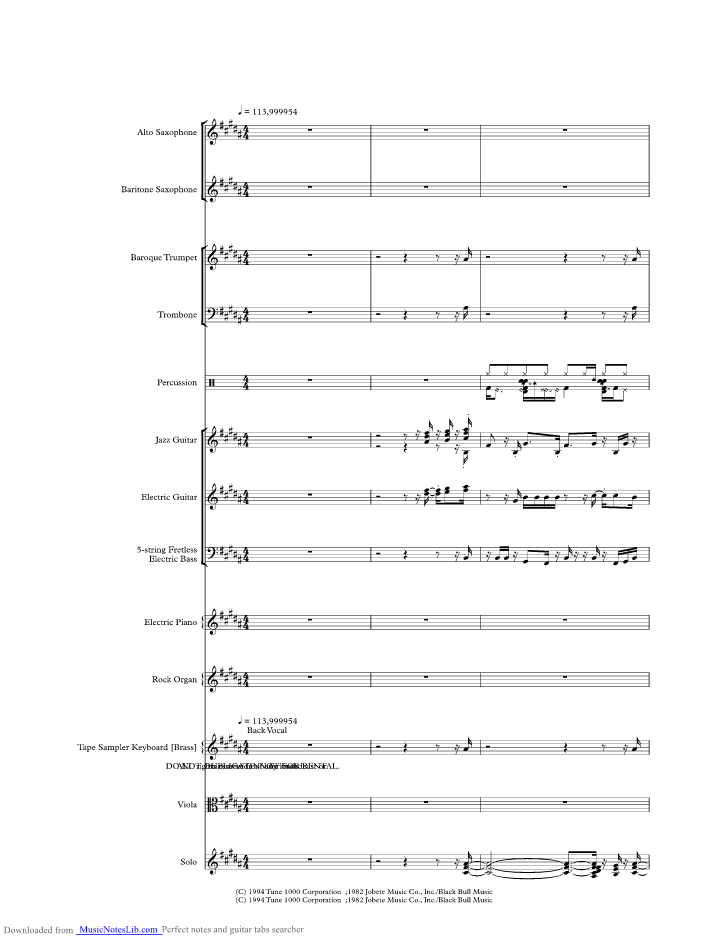 Do I Do music sheet and notes by Stevie Wonder