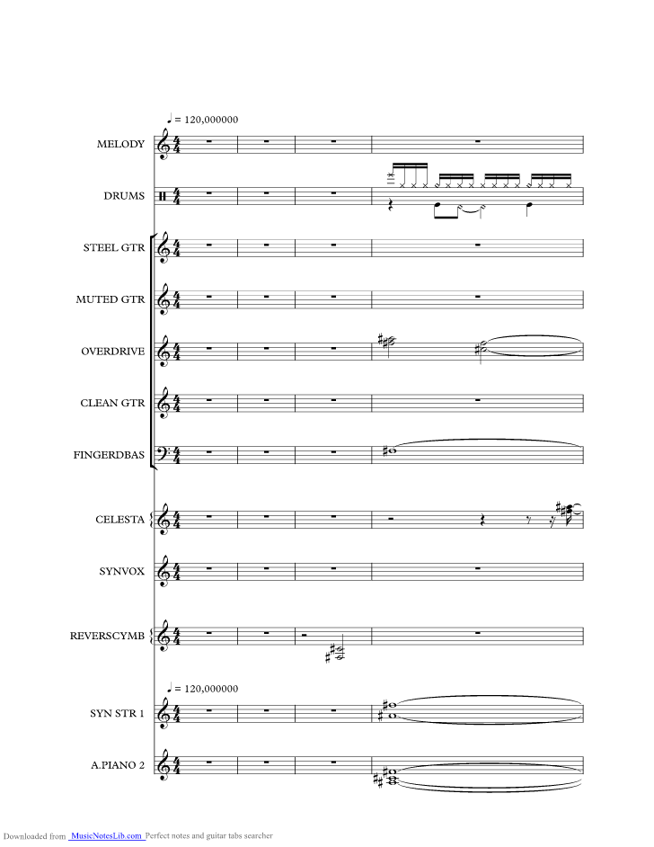 Crossfire music sheet and notes by The Bellamy Brothers ...