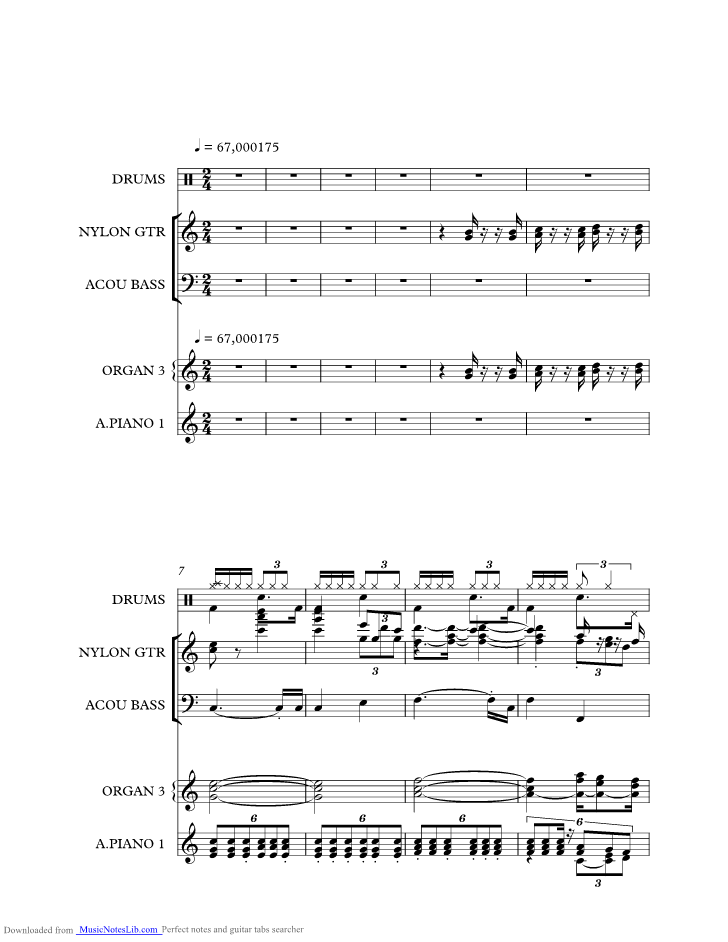 All Music Chords last date sheet music : Last Date music sheet and notes by The Spotnicks @ musicnoteslib.com