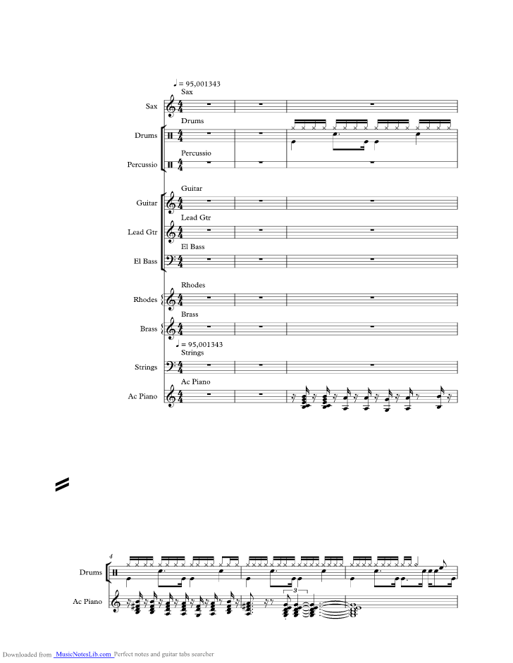 Georgy Porgy music sheet and notes by Toto @ musicnoteslib com