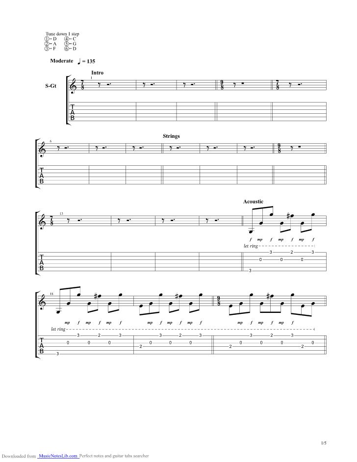 Last Goodbye Guitar Pro Tab By Circus Maximus Musicnoteslib