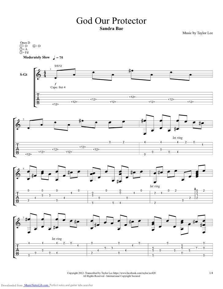 1234 Guitar Chords