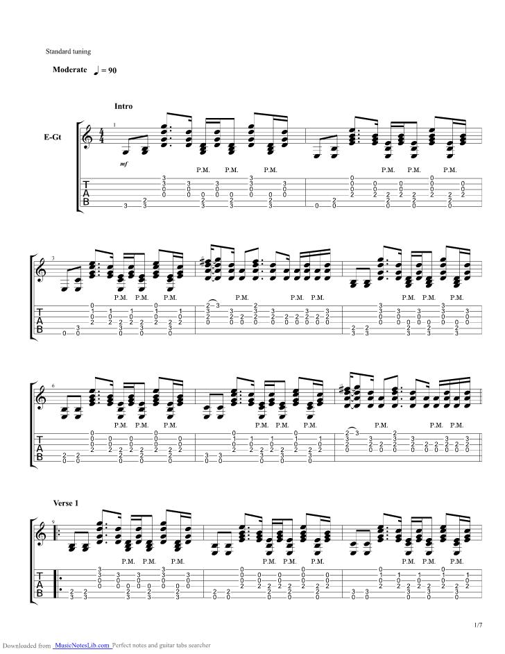 Sampip guitar pro tab by Parokya Ni Edgar @ musicnoteslib.com
