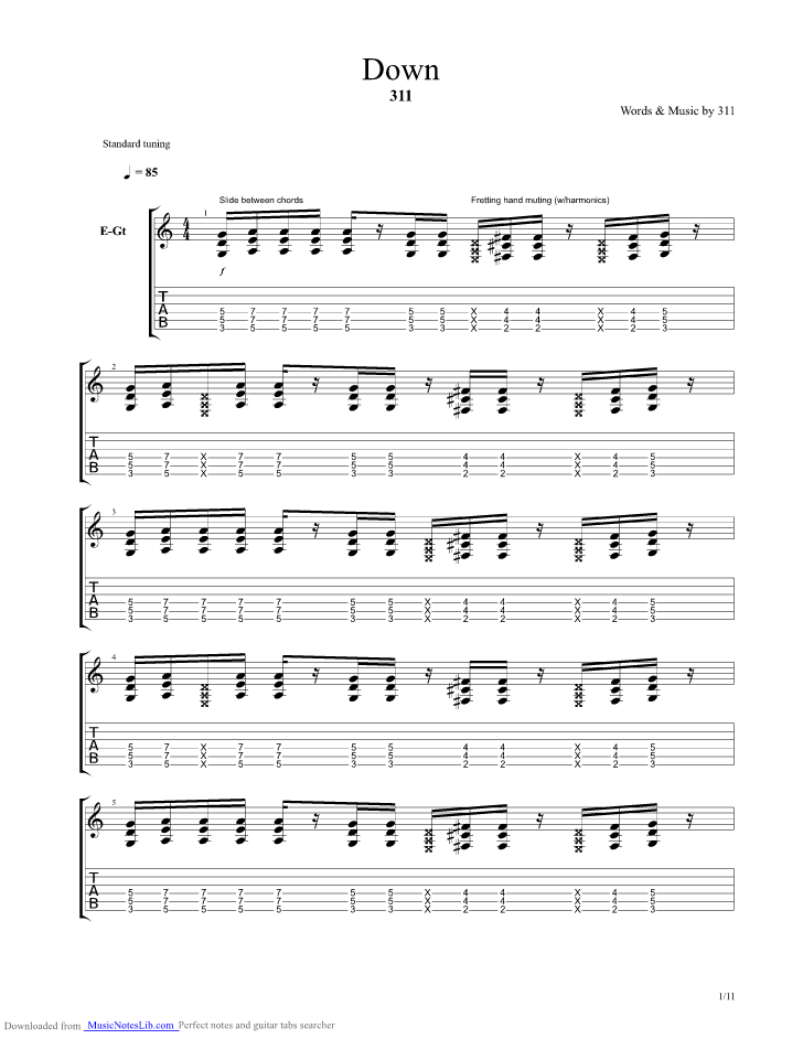 flirting with disaster guitar tab 1 5 download