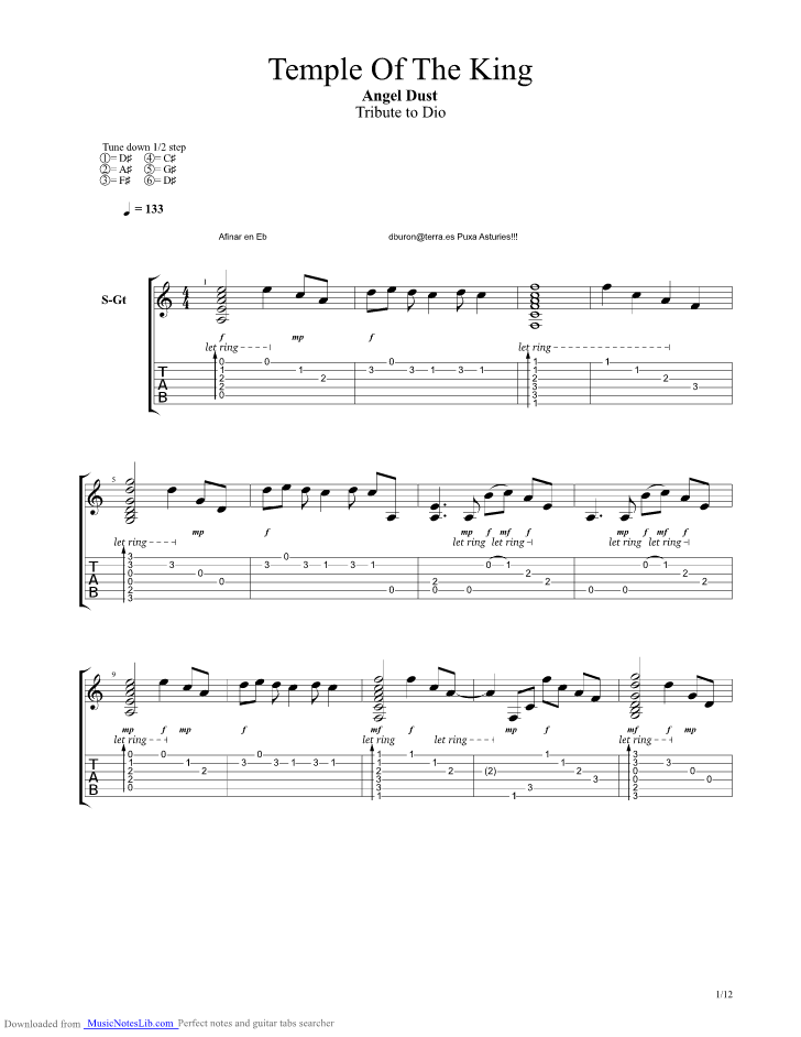 Rainbow-Temple of the king (lyrics) Chords - Chordify