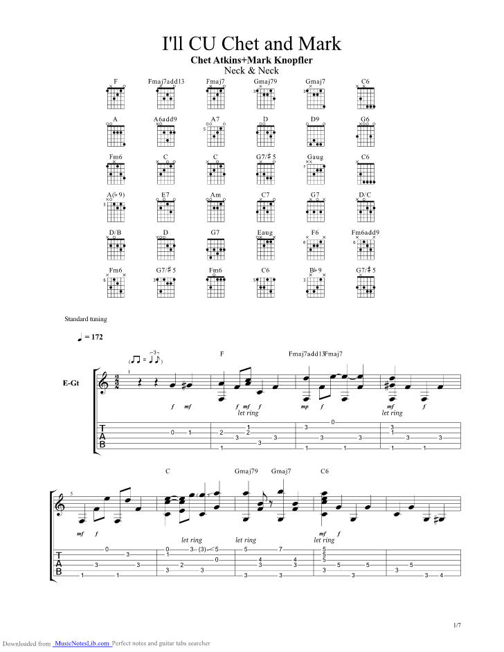 I ll See You In My Dreams guitar pro tab by Chet Atkins ...