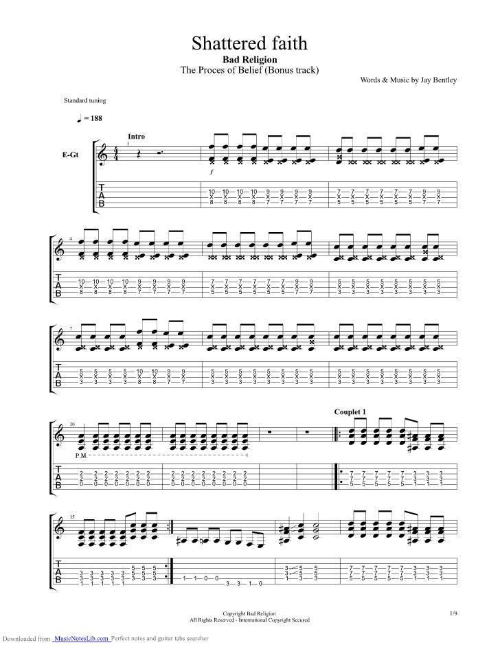 Have a little faith in me guitar chords