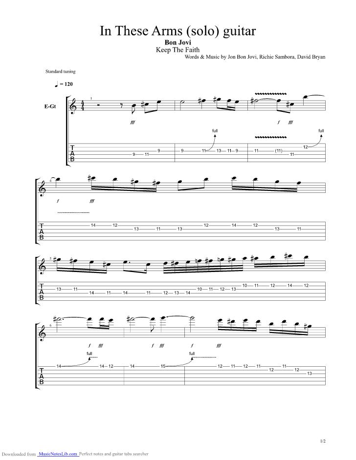 Bon Jovi These Days Guitar Pro Tab Download