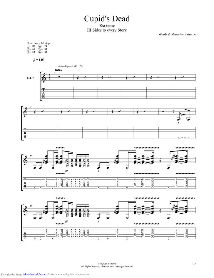 extreme cupid deadguitar tabs pdf