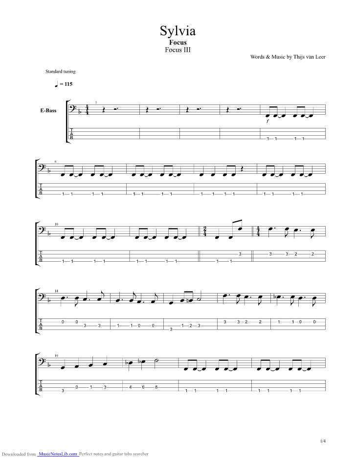 Letter J  Tablatures Chords for Guitar Bass Drums