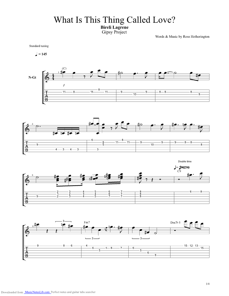 What Is This Thing Called Love Guitar Pro Tab By Lagrene Bireli