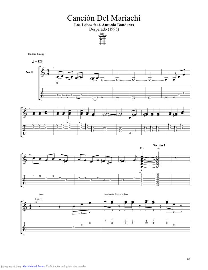 Mariachi Guitar Chords