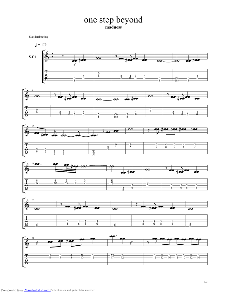 Our House Chords 28 Images Madness Sheet By Prince Buster Lyrics