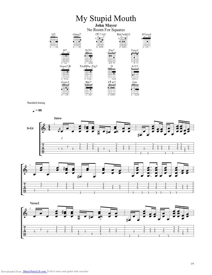 Daughters John Mayer Guitar Chords Gallery Guitar Chords Finger