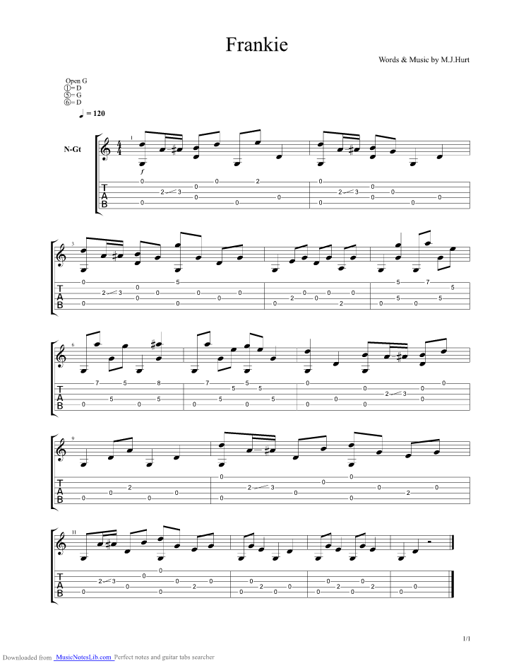 Guitar chords for hurt