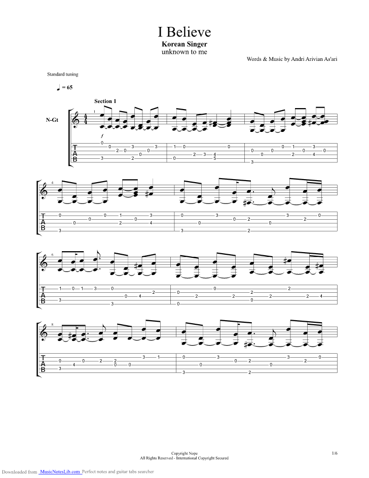 My sassy girl guitar tabs opinion
