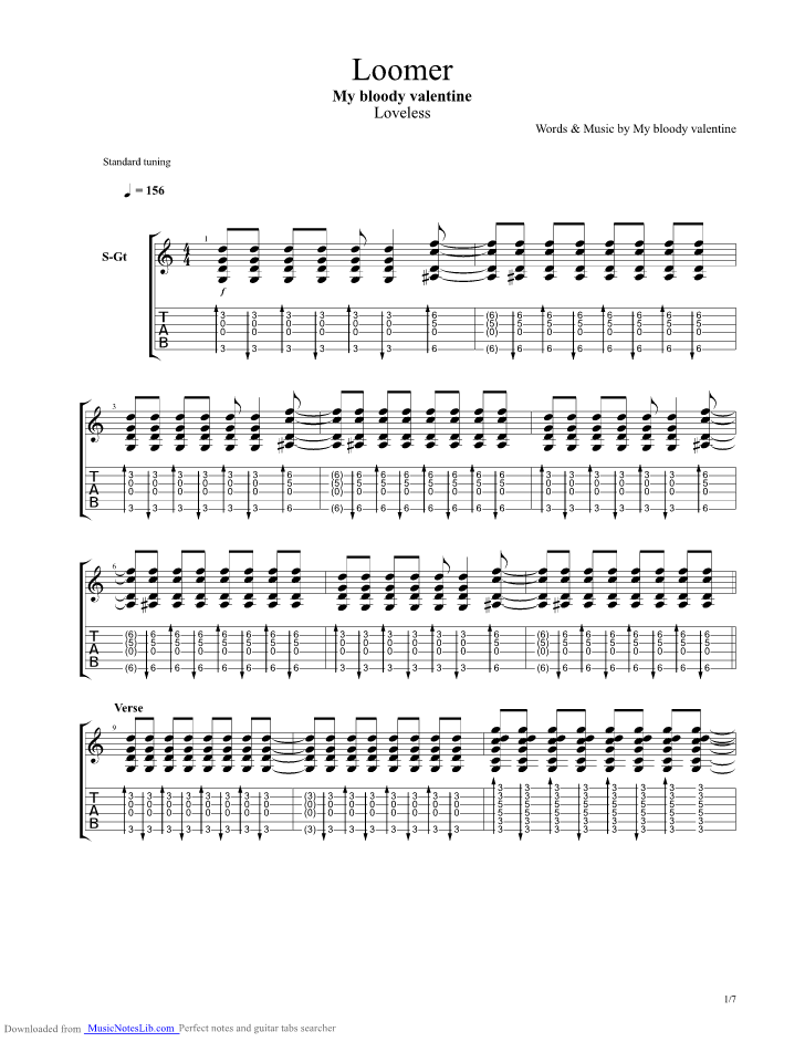 my bloody valentine chords: