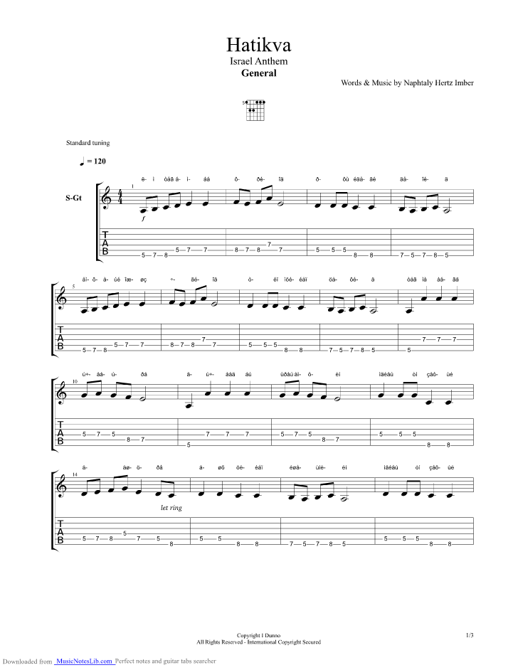American National Anthem Guitar Tabs submited images.