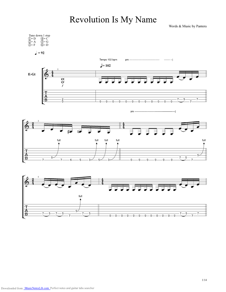 Domination guitar tabs out