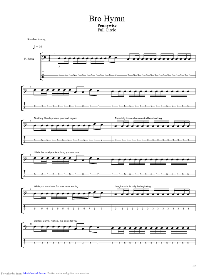 Bass guitar tabs fuck authority