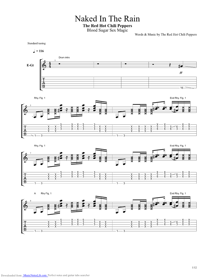 Bare naked ladies bass tabs