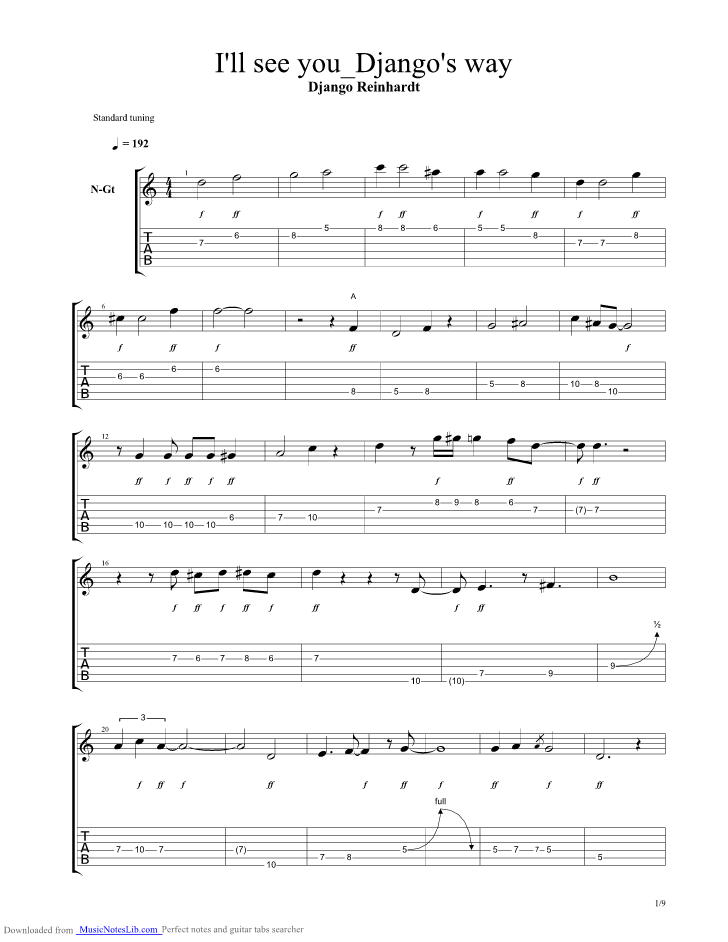 Ill See You In My Dreams Guitar Tabs - gaurani.almightywind.info