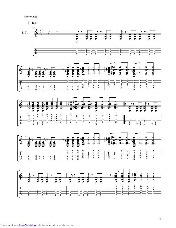 Summertime Blues Guitar Pro Tab By Brian Setzer Musicnoteslib