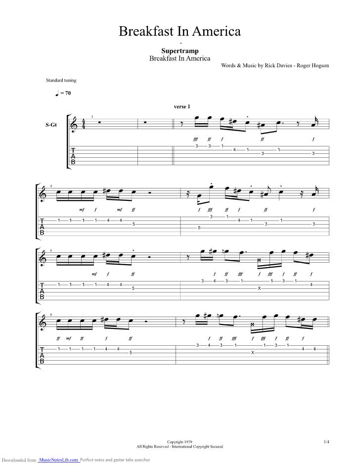 Supertramp Guitar Chords