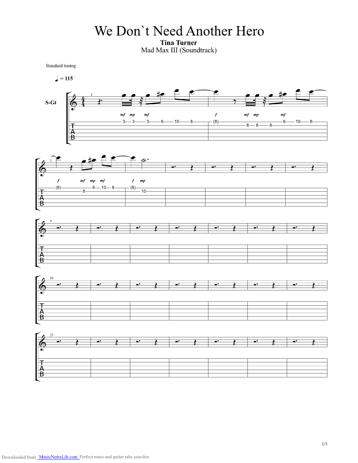 Modern I Need A Hero Chords Pattern Basic Guitar Chords For
