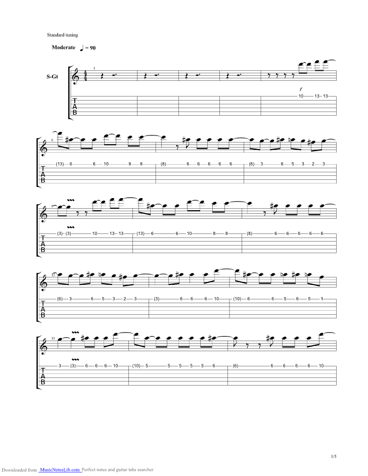 Angels Guitar Pro Tab By Within Temptation Musicnoteslib