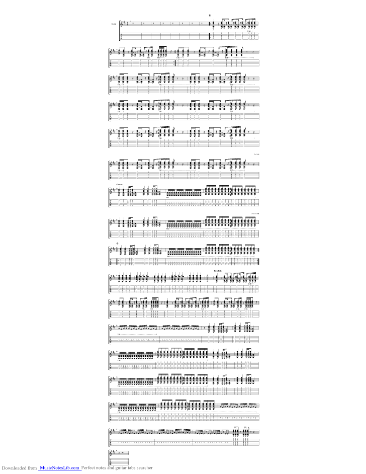 Whispers In The Dark Acoustic Guitar Pro Tab By Skillet