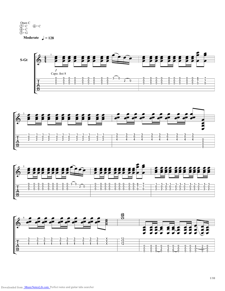 King Of Spain Guitar Pro Tab By The Tallest Man On Earth