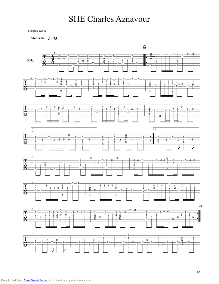 Guitar chords and notes