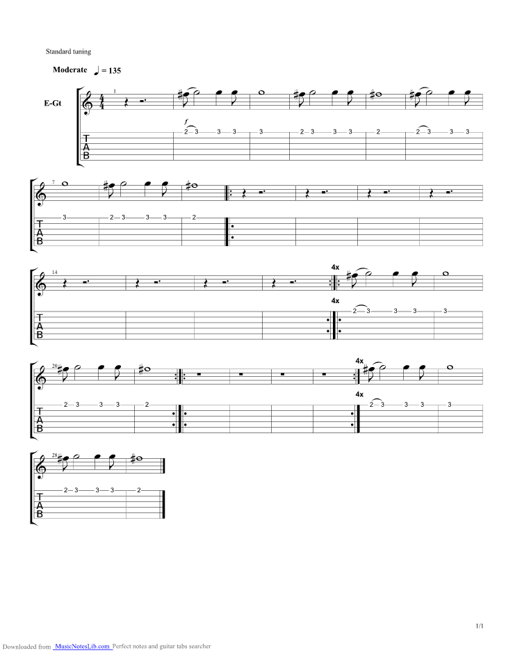 Open My Eyes guitar pro tab by Soja @ musicnoteslib.com