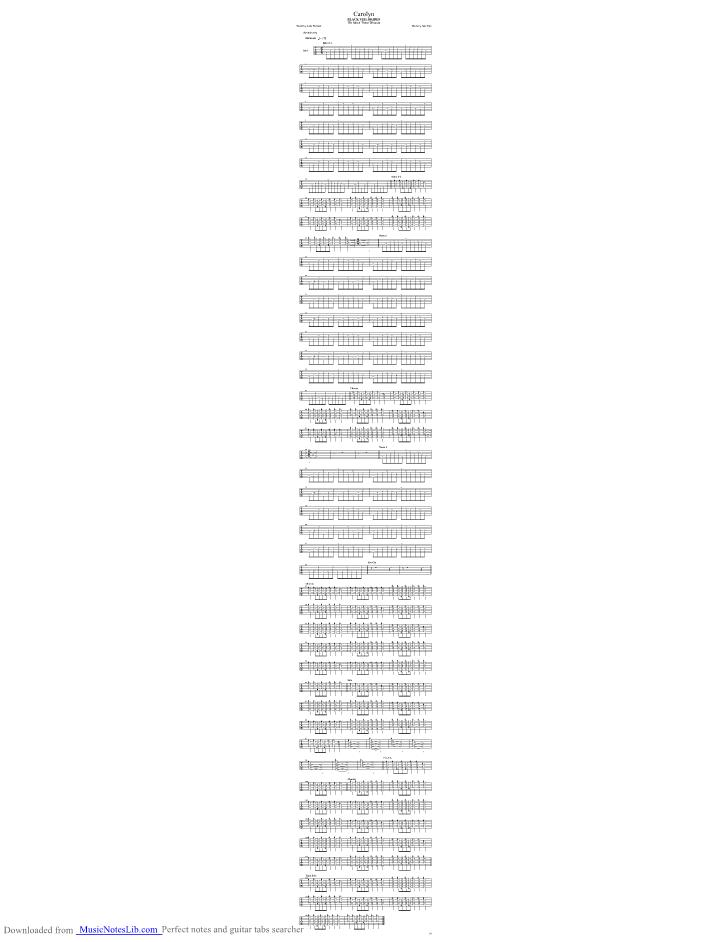 Carolyn Guitar Pro Tab By Black