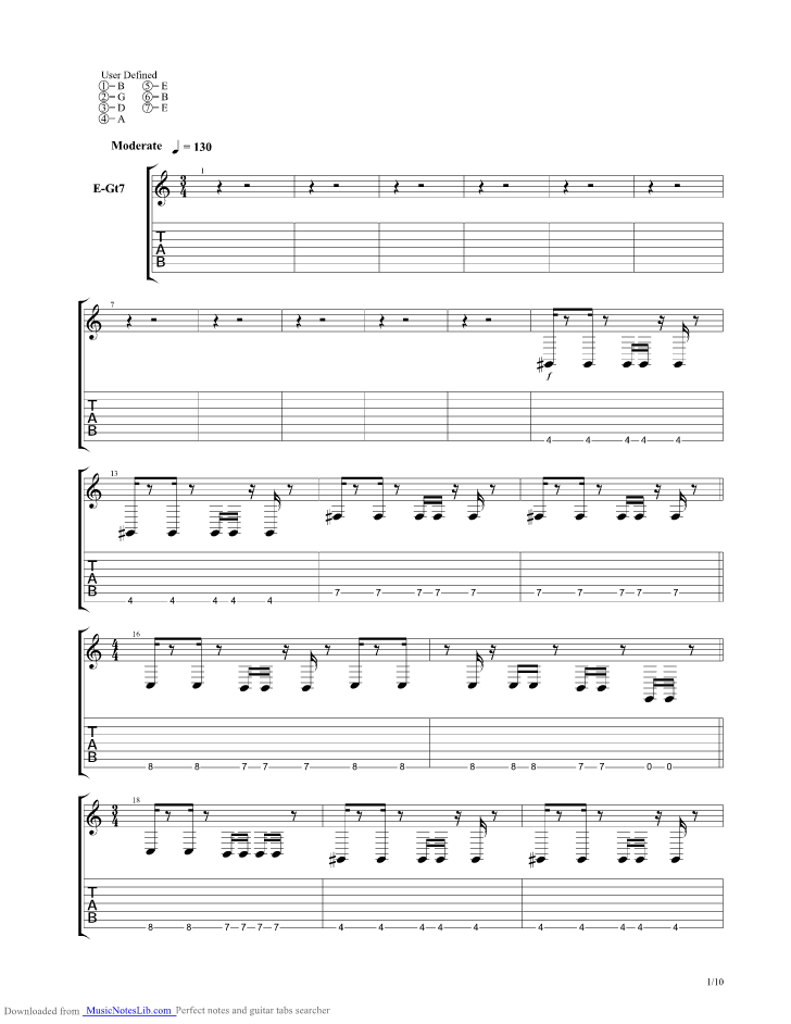 Do Not Go Gently Guitar Pro Tab By Animals As Leaders Musicnoteslib Com
