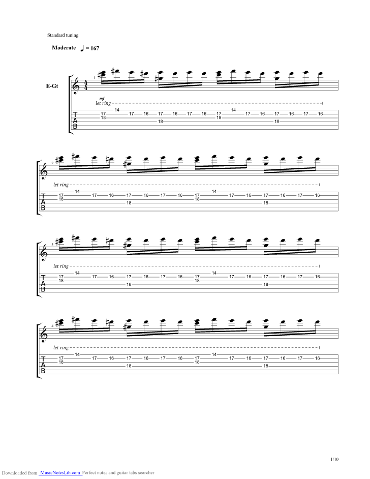 New Eden Guitar Pro Tab By Animals As Leaders Musicnoteslib Com