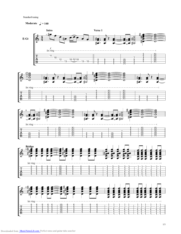 Savior Guitar Pro Tab By Asking Alexandria Musicnoteslib