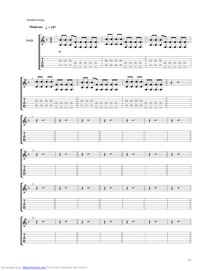 Small Town Girl guitar pro tab by Nevershoutnever @ musicnoteslib.com