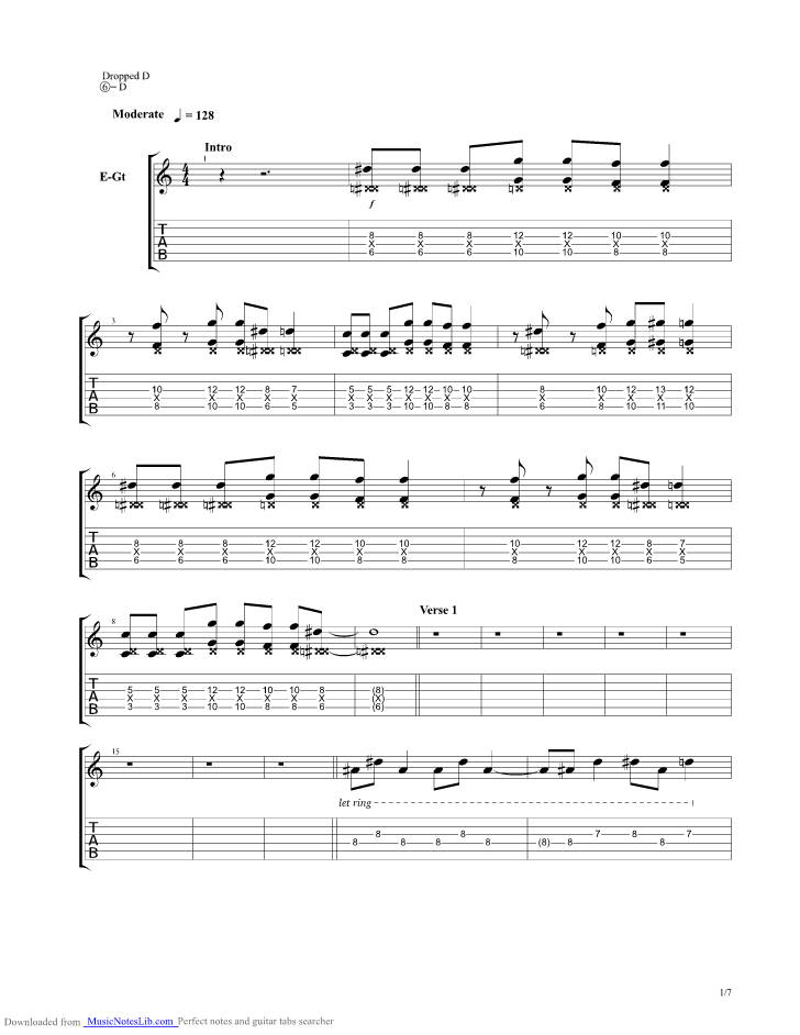 Somewhere In Neverland Guitar Pro Tab By All Time Low