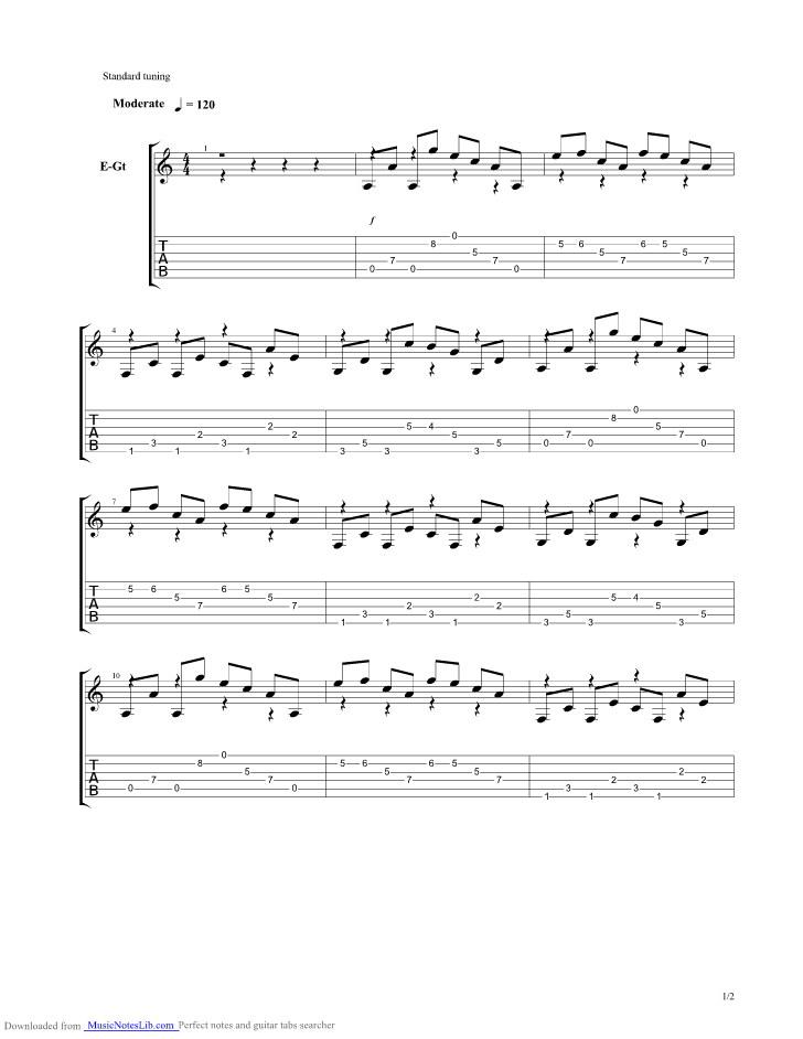 The Storm Guitar Pro Tab By Of Mice And Men Musicnoteslib