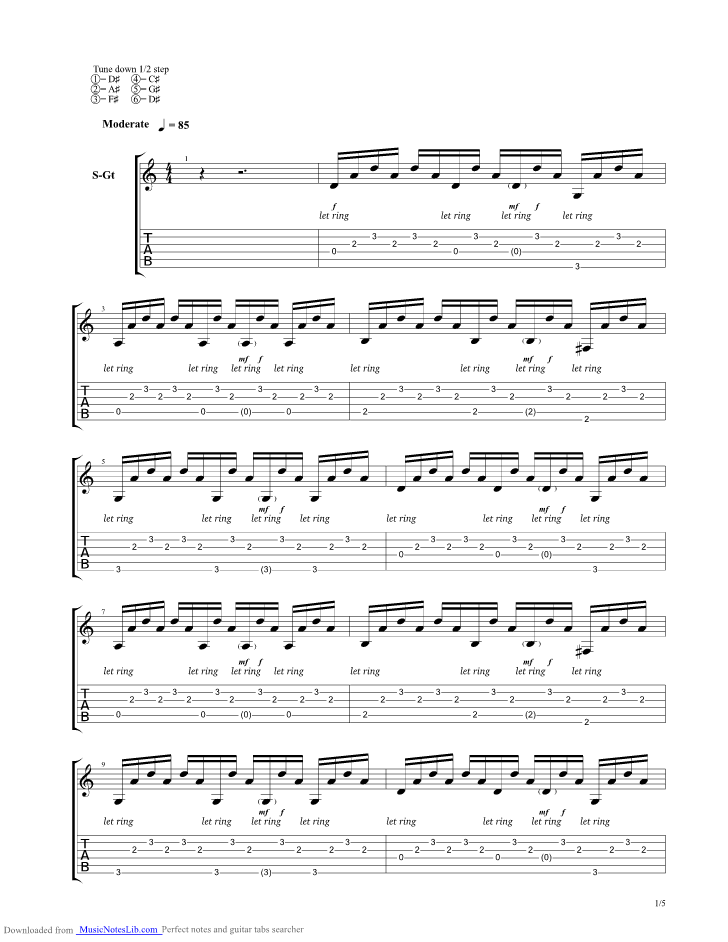 Ever Enough Guitar Pro Tab By A Rocket To The Moon Musicnoteslib