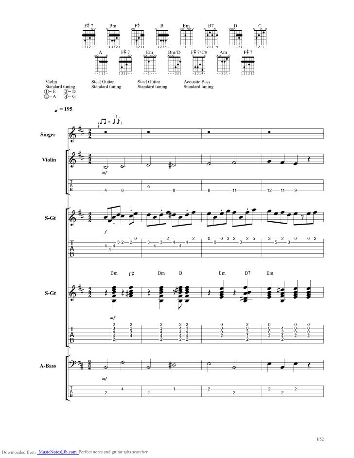 Night Train To Munich Guitar Pro Tab By Al Stewart Musicnoteslib