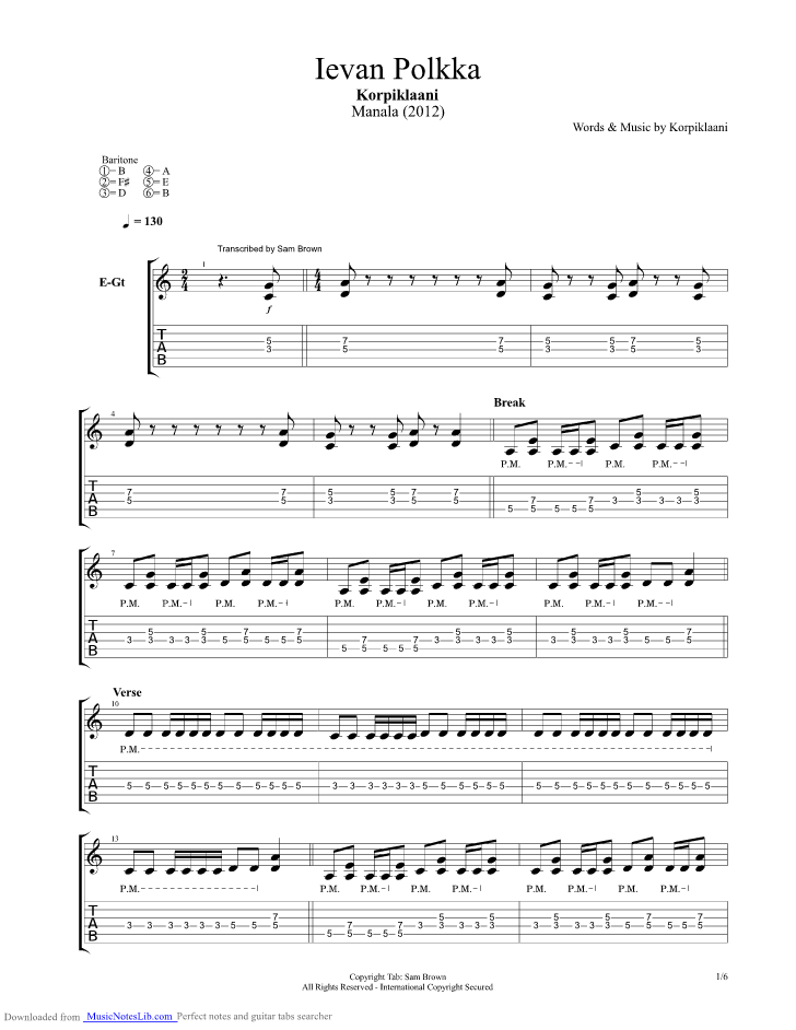 Guitar chords fall for