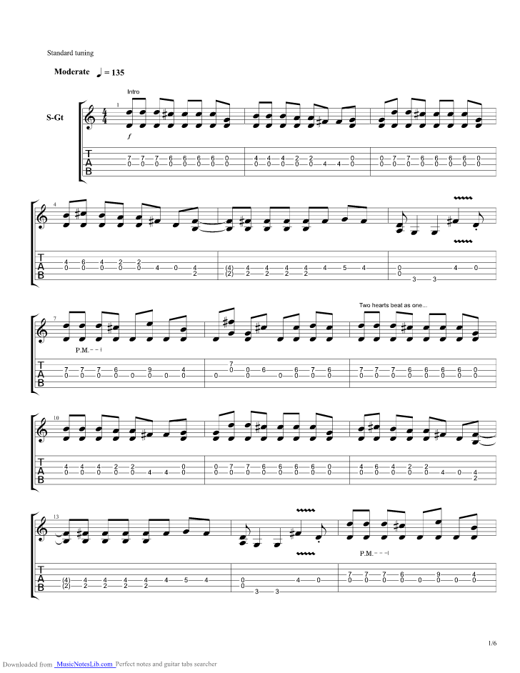 2s My Favorite 1 Acoustic guitar pro tab by Coheed and
