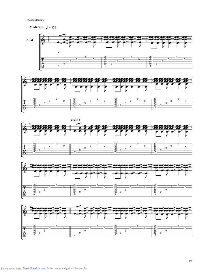 Coda Guitar Pro Tab By Riverside Musicnoteslib