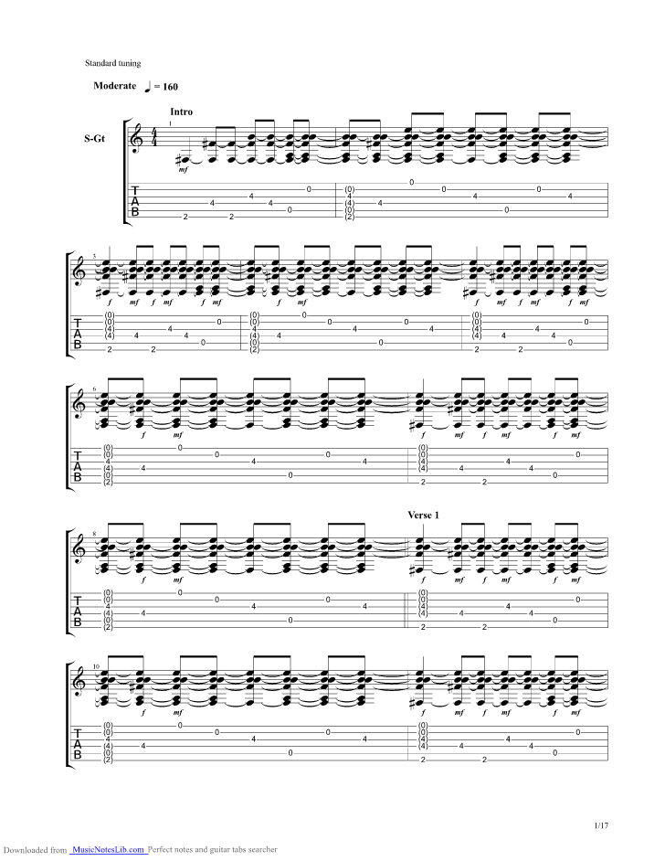 Through The Otherside Guitar Pro Tab By Riverside Musicnoteslib